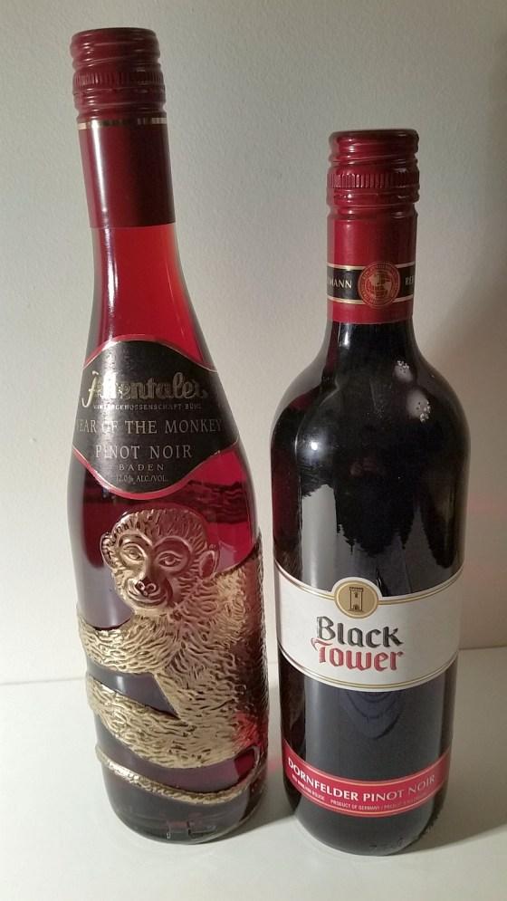 Affentaler Pinot Noir and Black Tower Dornfelder Pinot Noir blend