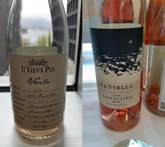Le Vieux Pin Vaila and La Stella Lastellina Rosato 2016 wines