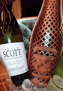 Beau Joie Champagne Brut and Allan Scott Sauvignon Blanc