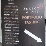 Select Wines Portfolio tasting sign