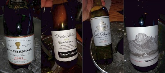 Boschendal Methode Cap Classique sparkling, and Rachelsfontein, The Pavillion, and Sommelier Selection Chenin Blancs