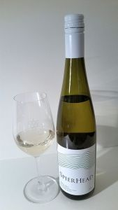 SpierHead Riesling 2016 bottle and glass of wine