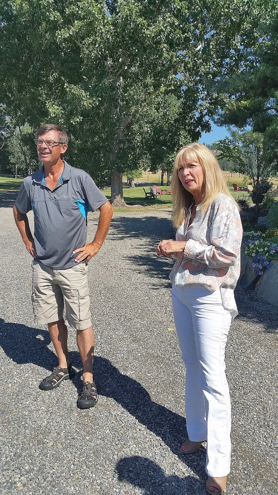 Owners John and Debbie Woodward at Privato Winery