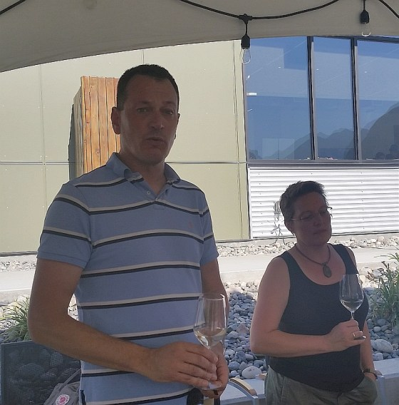 Rolf and Heleen from Fort Berens Winery