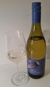 Blue Grouse Quill Pinot Gris 2016 and glass