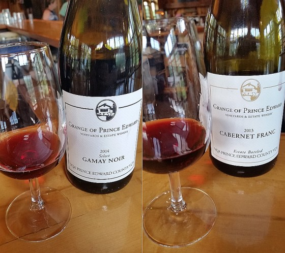 Grange of Prince Edward Select Gamay Noir 2014 and Cabernet Franc 2013
