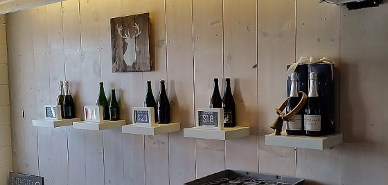 Hinterland Wine Company wines on display