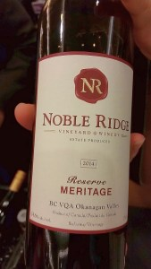 Noble Ridge Vineyard & Winery Meritage Reserve 2014