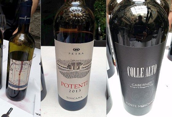 Cantina Fiorentino Terra San Giovanni, Petra Potenti, and Corte Moschina Cabernet IGT Veneto Colle Alto red wines