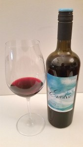 Evolve Cellars Elevate Cabernet Shiraz with wine in glass