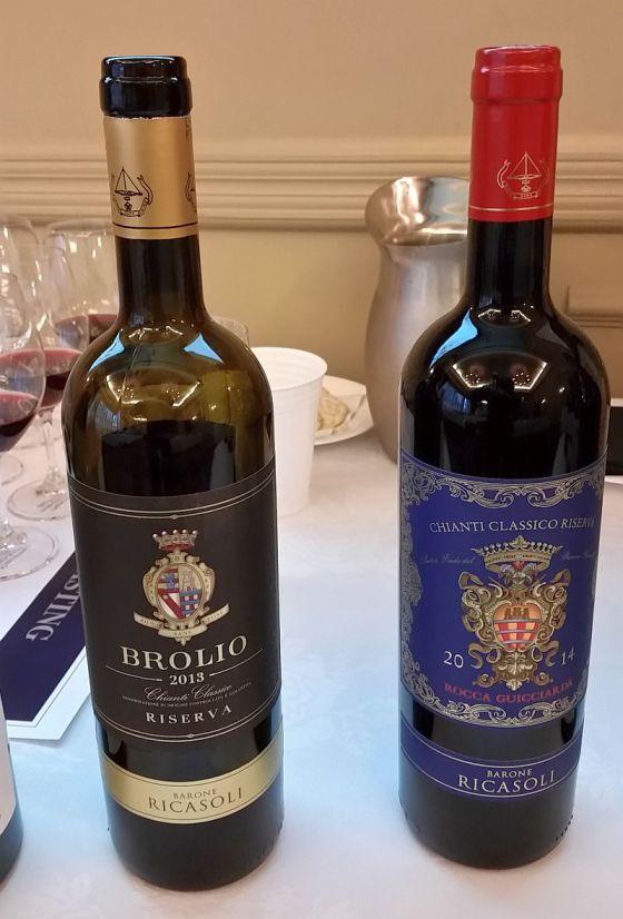 Barone Ricasoli Rocca Guicciarda Chianti Classico Riserva DOCG and Casalferro Rosso Toscana IGT