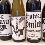 Flight of Charles Smith Wines bottles