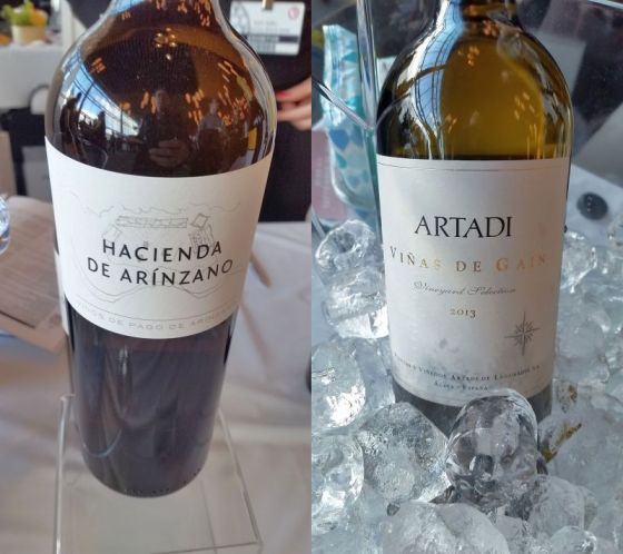 Arinzano Vinos de Pago Hacienda White DO Pago and Artadi Vinas de Gain White wines