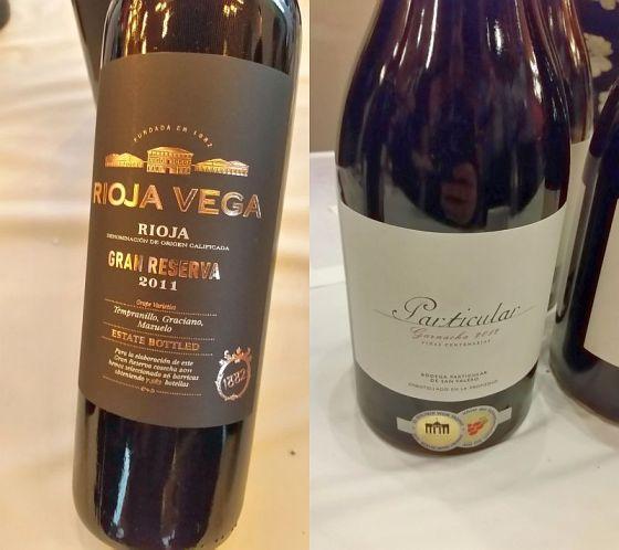Rioja Vega Gran Reserva and Bodegas San Valero Particular Centenaria Garnacha wines