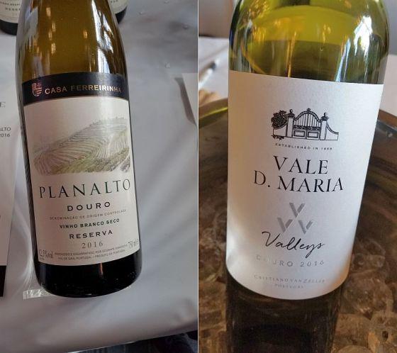Sogrape Vinhos Casa Ferreirinha Planalto Vinho Blanco Reserva and Quinta Vale D Maria VVV Valleys Douro Branco wines