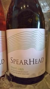 Spearhead Winery Pinot Gris 2017