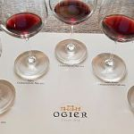 The Ogier Expression de Terroir Wines in glasses