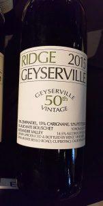 Ridge Vineyards Ridge Geyserville