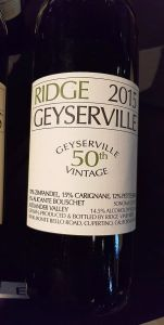 Ridge Vineyards Ridge Geyserville