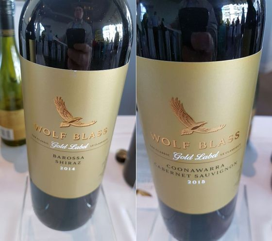 Wolf Blass Gold Label Barossa Shiraz and Coonawarra Cabernet Sauvignon