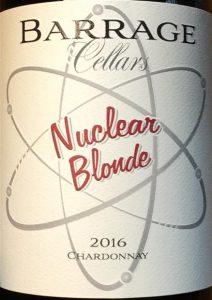 Barrage Cellars Nuclear Blonde Chardonnay 2016
