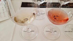 Champagne Taittinger Brut Reserve and Prestige Rosé