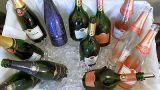Champagne Taittinger bottles on ice