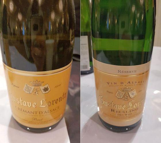 Gustave Lorentz Cremant d'Alsace Brut sparkling and Riesling Reserve 2016