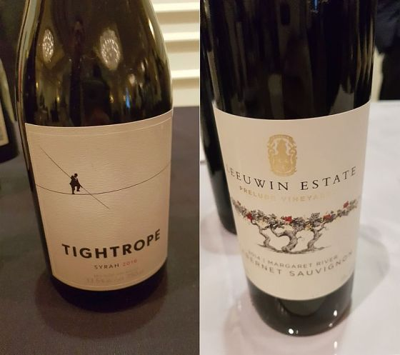 Tightrope Winery Syrah 2016 and Leeuwin Estate Prelude Vineyard Cabernet Sauvignon 2014