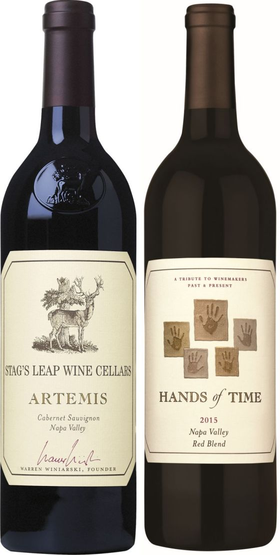 Stag's Leap Wine Cellars Artemis Cabernet Sauvignon and Hands of Time Red wine