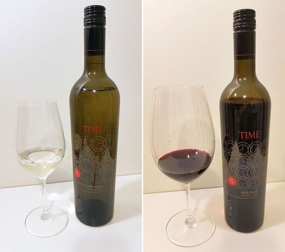 Time Winery White Meritage 2017 and Red Meritage 2016