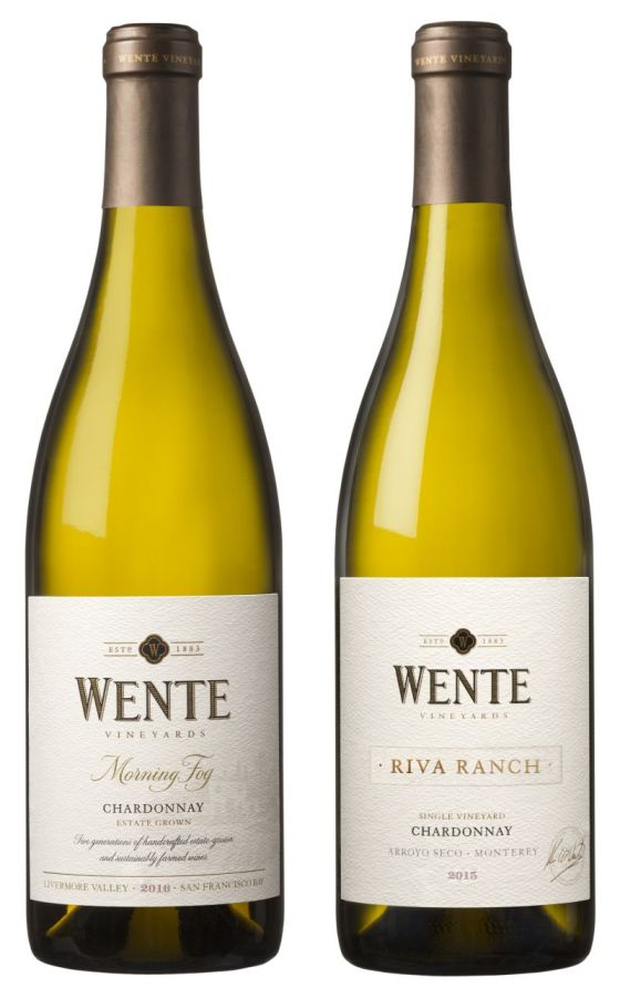 Wente Morning Fog and Riva Ranch Single Vineyard Chardonnay