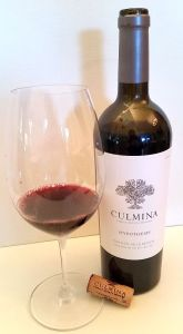 Culmina Hypothesis 2013 with wine in glass