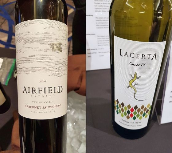 Airfield Estates Cabernet Sauvignon and LacertA Cuvee IX wines