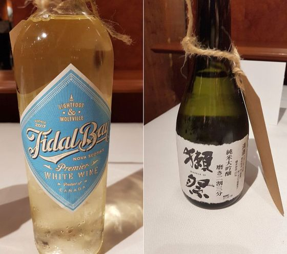 Lightfoot and Wolfville Vineyards Tidal Bay and Asahi Shuzo Co. Dassai 23 at VanWineFest