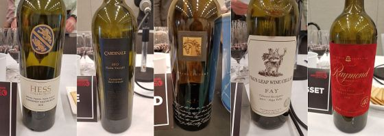 Hess Collection, Cardinale, Black Stallion, Stag's Leap Wine Cellars, and Raymond Vineyards Cabernet Sauvignon at VanWineFest 2019