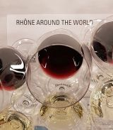 Rhone Around The World placemat with wines