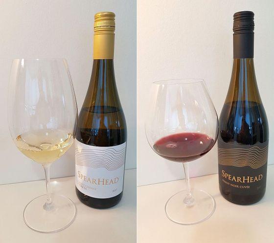 Spearhead Clone 95 Chardonnay 2017 and Spearhead Pinot Noir Cuvee 2017 wines