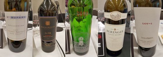 St Supery, Signorello, Silver Oak, Beringer, and Louis M Martini Cabernet Sauvignon wines at VanWineFest 2019