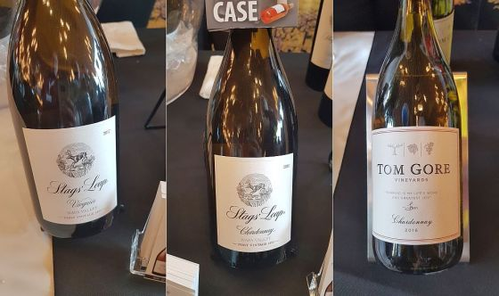Stags' Leap Winery Napa Valley Viognier 2017 and Chardonnay 2016, and Tom Gore Vineyards Chardonnay 2016 wines at VanWineFest 2019