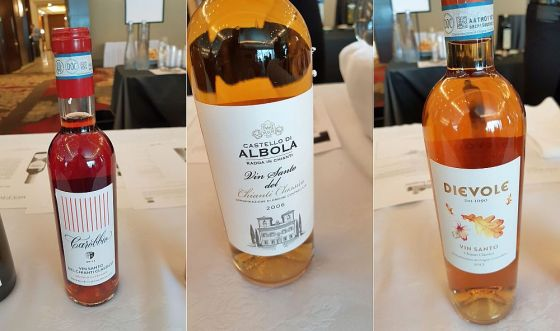 Carobbio in Santo del Chiatini Classico DOC 2011, Castello di Albola Vin Santo del Chianti Classico DOC 2006 and Dievole Vin Santo del Chianti Classico DOC 2012