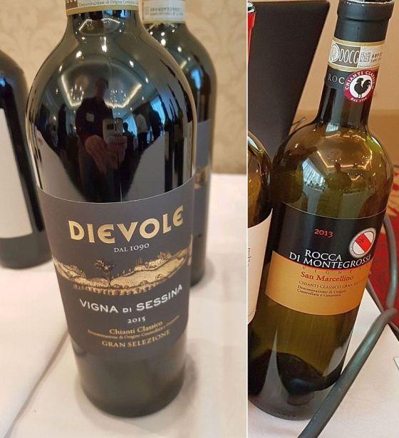 Dievole Chianti Classico DOCG Gran Selezione Vigna di Sessina 2015 and Rocca di Montegrossi Chianti Classico DOCG Gran Selezione Vigneto San Marcellino 2013 wines