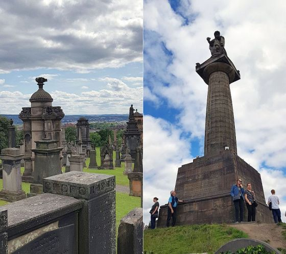 A view from the Necropolis and the John Knox statue