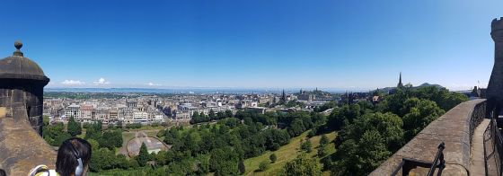 One of the many views from Edinburgh Castle