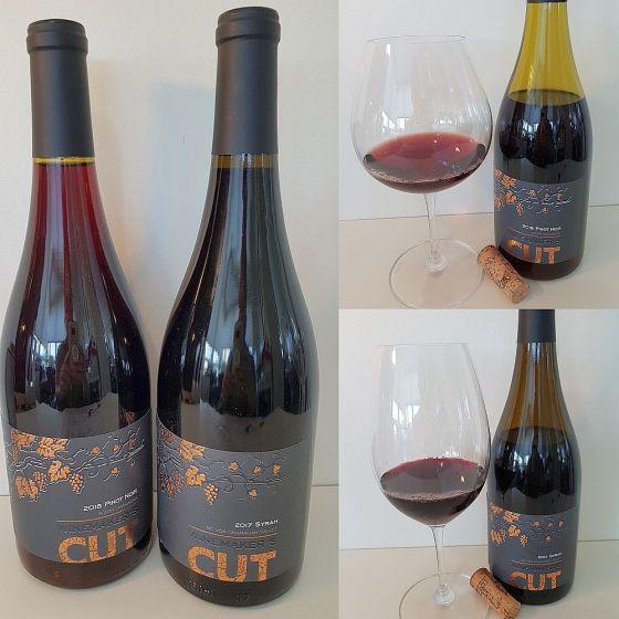 Winemaker's CUT Pinot Noir 2018 and Syrah 2017 wines