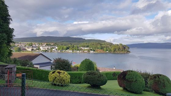 A view of Portree from my b&b