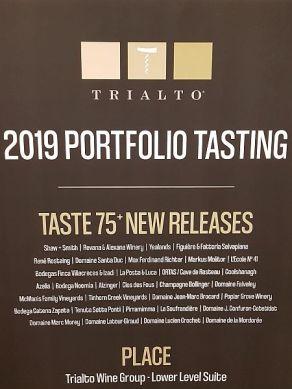 2019 Trialto Portfolio tasting