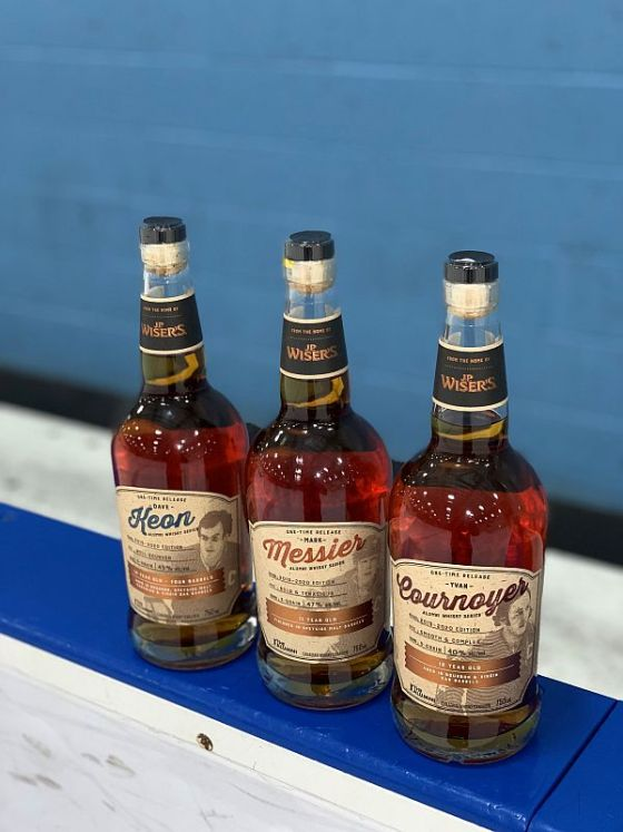 Alumni Whisky Series with NHL Captains Messier Cournoyer and Keon