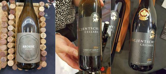 Arrowleaf Cellars Archive Pinot Noir 2016, C.C. Jentsch Cellars Cabernet Merlot 2016 and C.C. Jentsch Cellars Syrah 2016