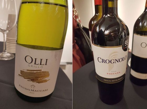 Feudo Maccari Olli Grillo and Tenuta Sette Ponti Crognolo wines